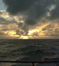 View from the deck of the R/V Oceanus. (Credit: Jim Moum / Oregon State University)
