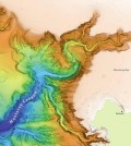 Recent research sheds light on the powerful ocean currents that carved underwater canyons offshore. (Credit: Stanford University)