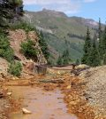 Location in the Colorado mountains where Axis Geochemical is working on chemical characterization and methods for treatment of acid mine waters. (Credit: David Levy / Axis Geochemical)