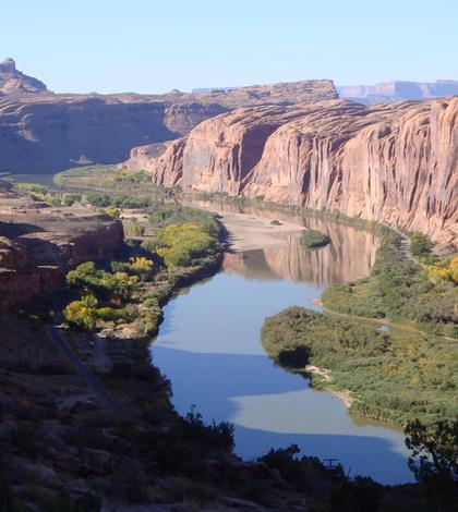Colorado River near Moab, Utah. (Credit: U.S. Geological Survey)