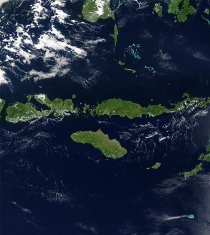 Sunda Islands, Indonesia. (Credit: NASA)