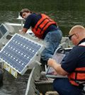 State officials began deploying SolarBees in 2014 to battle pollution in Jordan Lake. (Credit: Edward Wilson)