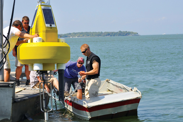 cellular data logger cellular data buoy Stone Lab