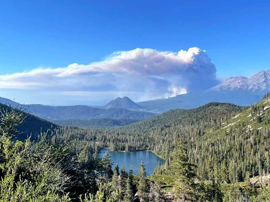 wildfires lakes